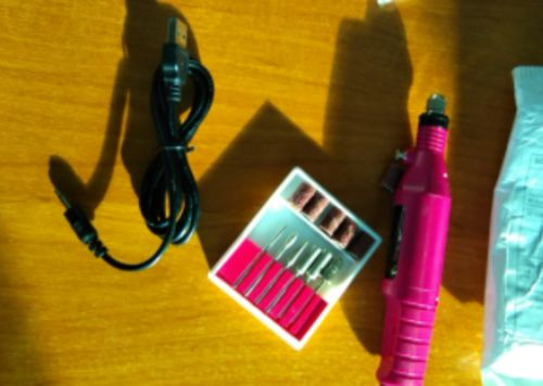 Nail Drill Electric Nail File Drills Manicure Kit With Files photo review