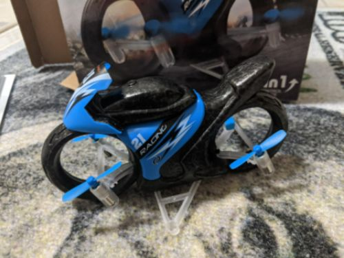 2 In 1 Remote Control Motorcycle Land And Air photo review