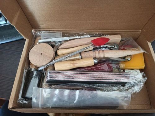 Handy Leather Working Tools Kit Craft Carving Punch Kit photo review