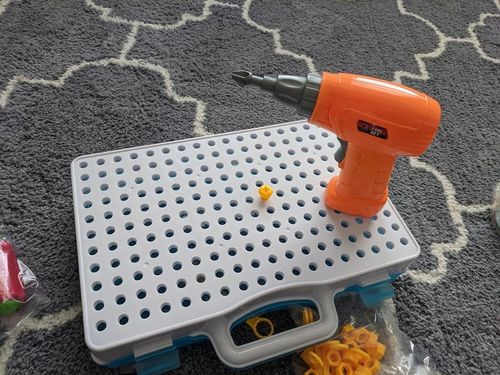 Blocks Game With Toy Drill & Screwdriver Tool Set photo review